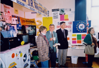 Along side J R Waite & Co stand, John Pullen and Ken Green | Peter Hill