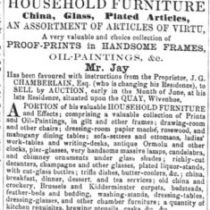 Sale of the effects of John Green Chamberlain | Essex Standard 13.05.1864