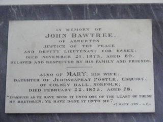 John Bawtree 1793-1873