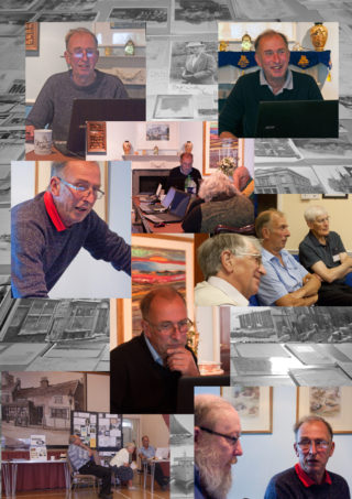 Pictures of John Stewart, one of the founders of the Wivenhoe History Group and who was passionate about Wivenhoe's history, who died in February 2018 | Photo montage by Frances Belsham