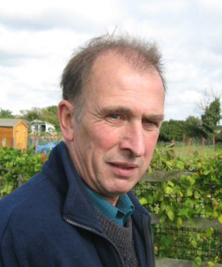 John Stewart, a long-time allotment holder and member of the WAGA Committee | Photo by Peter Hill (in 2005)