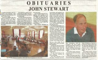 John Stewart's Obituary published by the Brightlingsea & Wivenhoe Chronicle - February 2018 | Copied from the Brightlingsea & Wivenhoe Chronicle - February 2018e