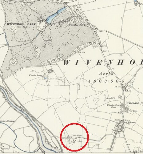 Lower Farm, the site for the proposed factory (where Lower Lodge estate is today)