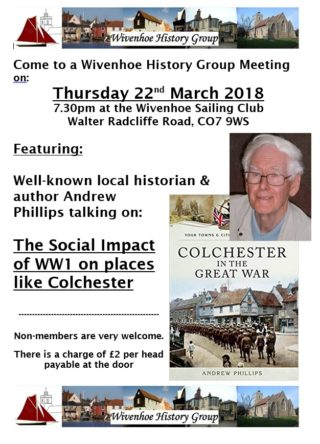 Wivenhoe History Group - Annual Meeting - 22nd March 2018