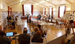 One of John's many Wivenhoe Memories exhibitions held in the Wm Loveless Hall. This was to be his last one held in August 2017.   Photo by Peter Hill
