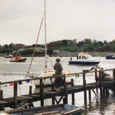 Birthday Sail Past. Essex Police Launch and West Mersea Lifeboat | Victoria Harrison (daughter)