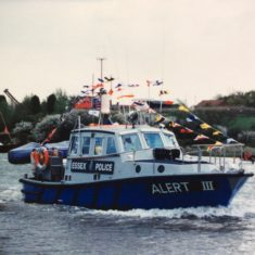 John Lee Barber 90th Birthday Sail Past, Essex Police Launch | Victoria Harrison (daughter)