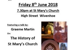 Wivenhoe History Group - Meeting about the History of St Mary's Church