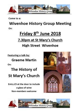 Wivenhoe History Group - A talk about the History of St Mary's Church