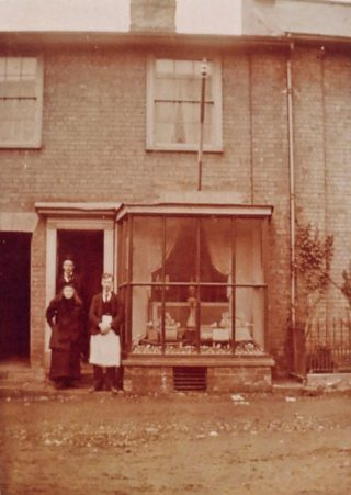 The newsagents at 33 High Street in 1894   Picture from Wivenhoe Memories Collection