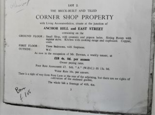 From the auction catalogue in 1943 | Shown by permission of Julie Bowes owner of the Auction papers