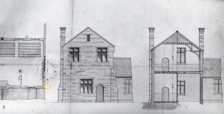 Plans for the National School built in the High Street in 1849. The upper storey was added in 1873. On the left of the picture the layout of the desks can be seen. | Wivenhoe Memories Collection