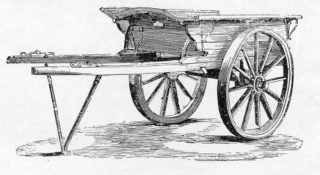 A tumbril as might have been used in Jolliffe's Yard