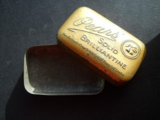 Brilliantine used by men introduced in the 1920s