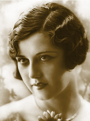 Example of the hairstyle for ladies in the 1920s