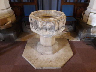 The font in St Mary's Church | Photo: Peter Hill