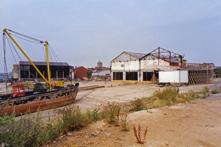 The remnants of Cooks Shipyard before it became a housing development started initially by Lexden Restorations.