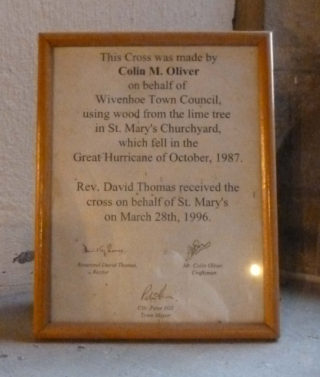 The Council marked the occasion with this certificate which was signed by Rev David Thomas, then Rector of St Mary's Church, Colin Oliver as the Craftsman, and Cllr Peter Hill, Town Mayor at that time. | Photo: Peter Hill