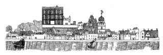 Taken from the 1734 Map of Wivenhoe (Copy in St.Mary's Church, Wivenhoe)