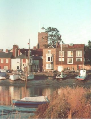 The view of the Church and the Lime tree in 1993