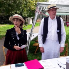 High Street Project Team members at the Information point in the churchyard | Peter Hill