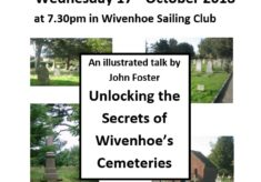Next WHG Meeting on Wed 17th October 2018