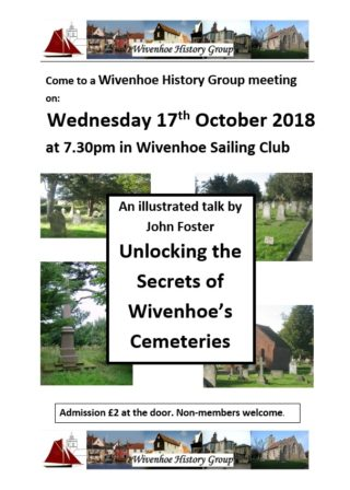 WHG Meeting on Wed 17th October 2018