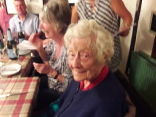 Flo Yates at her 100th birthday dinner | Peter Hill