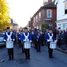 The Boys Brigade band led the procession down the High Street to St Mary's Church for the Remembrance Service | Peter Hill