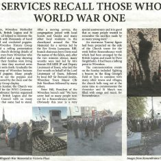 Remembrance 2018 recorded by the local newspaper | Copied from the Brightlingsea & Wivenhoe Chronicle December 2018