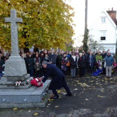 Our MP, Sir Bernard Jenkin, lays a wreath | Peter Hill