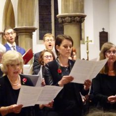 The Singers performing in Music For Remembrance in St Mary's Church | Peter Hill