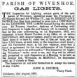Gas Lights for the Parish of Wivenhoe