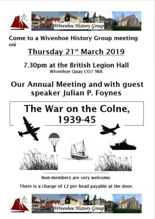 The Annual Meeting of the Wivenhoe History Group 2019