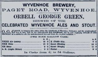 Wyvenhoe Brewery, Paget Road | Essex Standard 20 November 1867