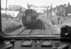 Paget Road railway crossing from the train in the 1960s