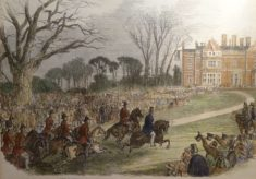 Prince Albert inspects troops on a visit to Wivenhoe Park in 1856