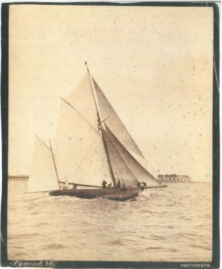 Charles Notttage's forst yacht off Portsmouth. | The Nottage Maritimre Institute