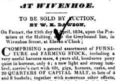 Malting Sale 1834