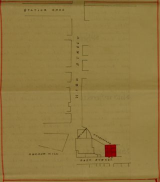 Gift of Land to St Mary's Church 21st March 1924 (Plan) | Essex Record Office D/P 277/6/10