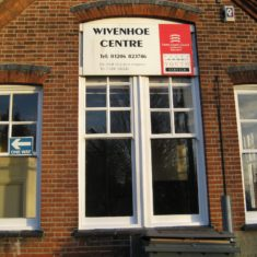 The west-facing wall of the Wivenhoe Centre | Pat Marsden