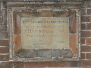 Commemorative plaque of gift of land to St Mary's church by W. Fison 1923/4 | Peter Hill