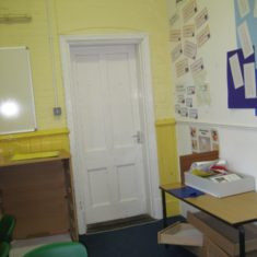Wyvenhoe Board School: an internal door | Margie North