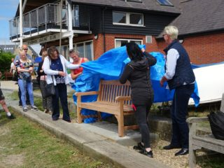 The unveiling of John Stewart's bench on Sunday 26th May 2019   Peter Hill