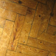 Wyvenhoe Board School: wooden parquet floor | Margie North