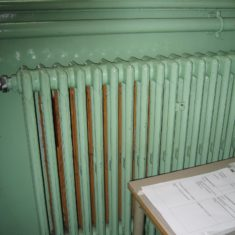 Wyvenhoe Board School: an early radiator  | Margie North