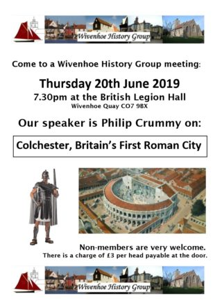 WHG - Meeting 20th June 2019 - Colchester, Britain's First Roman City