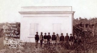 The building which housed the cable that was destroyed by the USS Marblehead