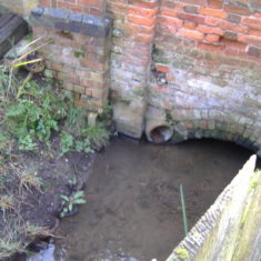 The Brook running alongside the Pump House before disappearing under Queens Road | Pat Marsden
