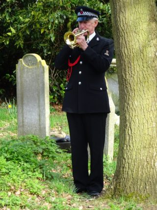 Graham Banning played the Last Post | Photo by Peter Hill